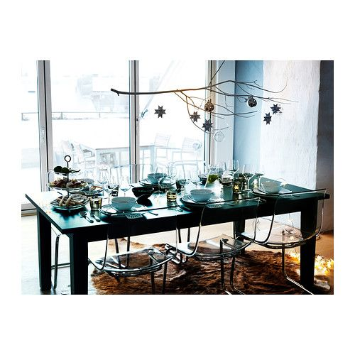 Stornäs Extendable Table Brownblack  Extendable Dining Table Custom Size Of Dining Room Table For 10 Design Inspiration