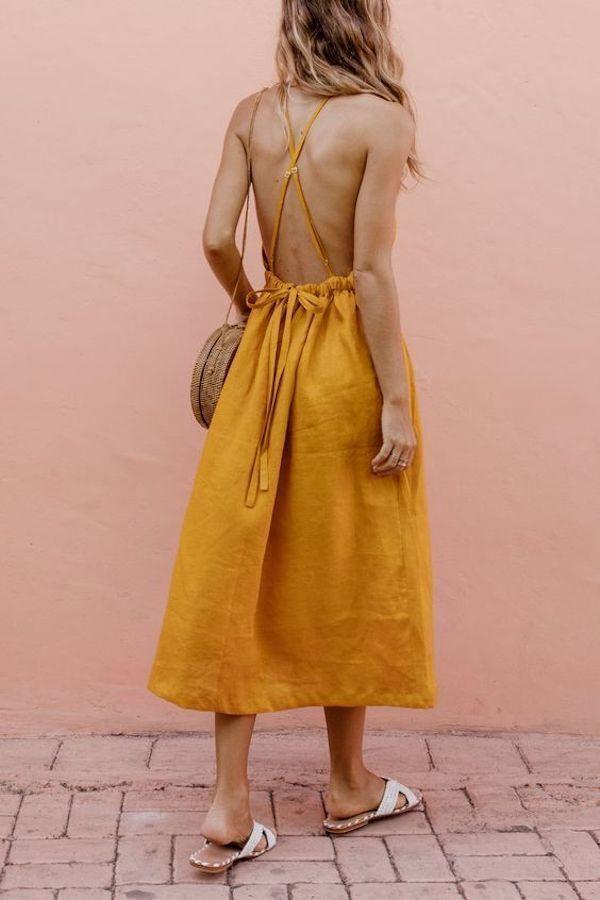 Leinenkleid: Schauen Sie sich Ideen an, um das Leinenkleid diesen Sommer zu tragen - #dress #...