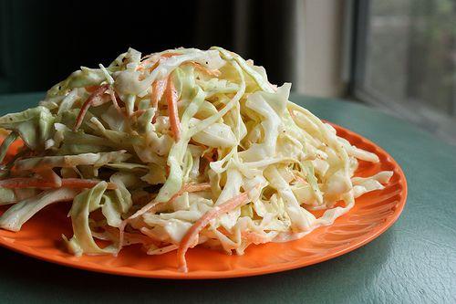 Sriracha Slaw  http://www.vietworldkitchen.com/blog/2011/05/sriracha-cabbage-slaw-recipe.html