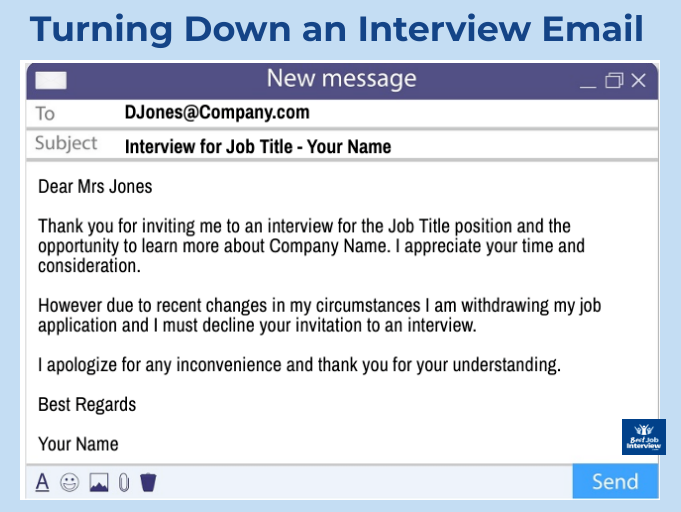 Turning Down A Job Interview What To Say And Do Job Interview Job Interview Tips Job Interview Preparation