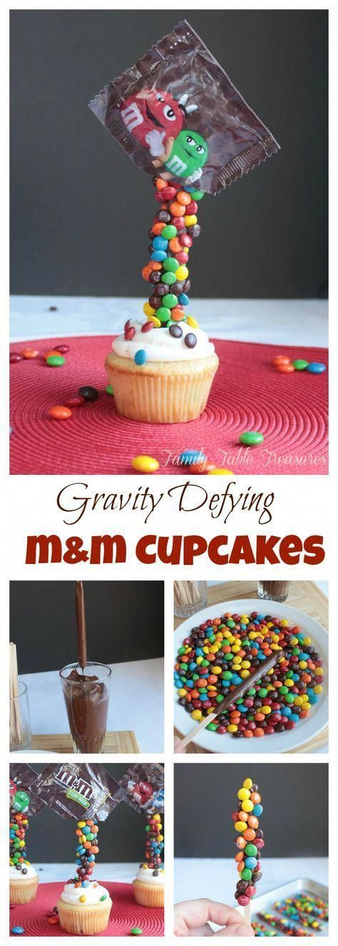 Photo of Schwerkraft trotzt M & M Cupcakes … –  Schwerkraft trotzt M & M Cupcakes … …
