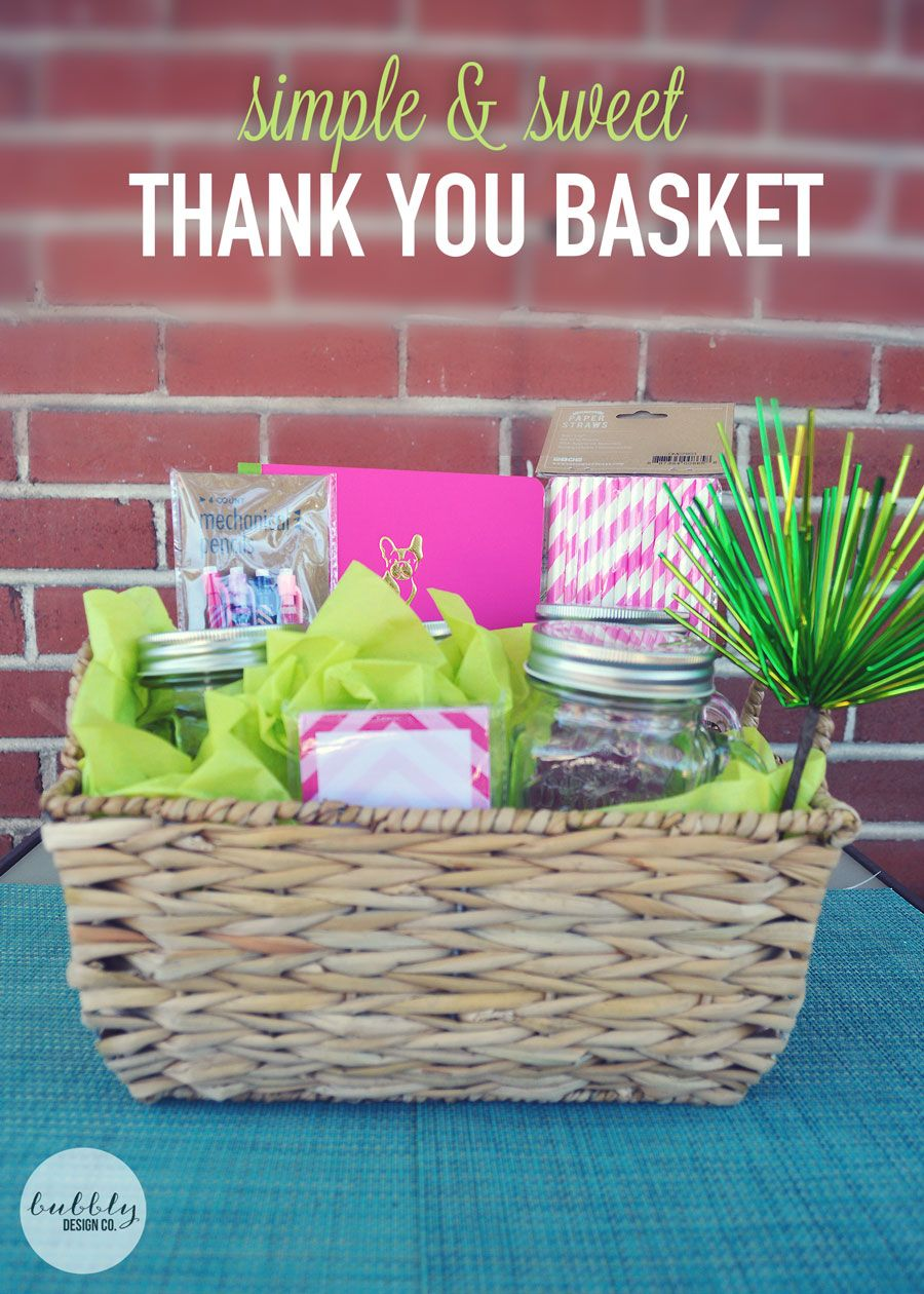 Bubbly Design Co: Create A Simple & Sweet Thank You Gift (perfect For