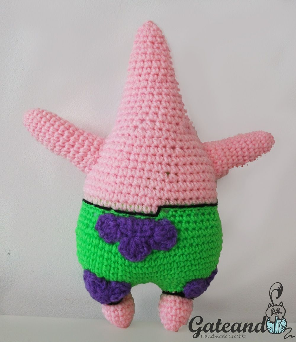 SpongeBob, Patrick Star, Amigurumi, Crochet, Free Pattern | Couture ...