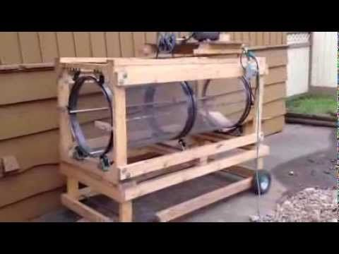 Compost / Dirt Rotary Sifter - YouTube | Lombricultura ...
