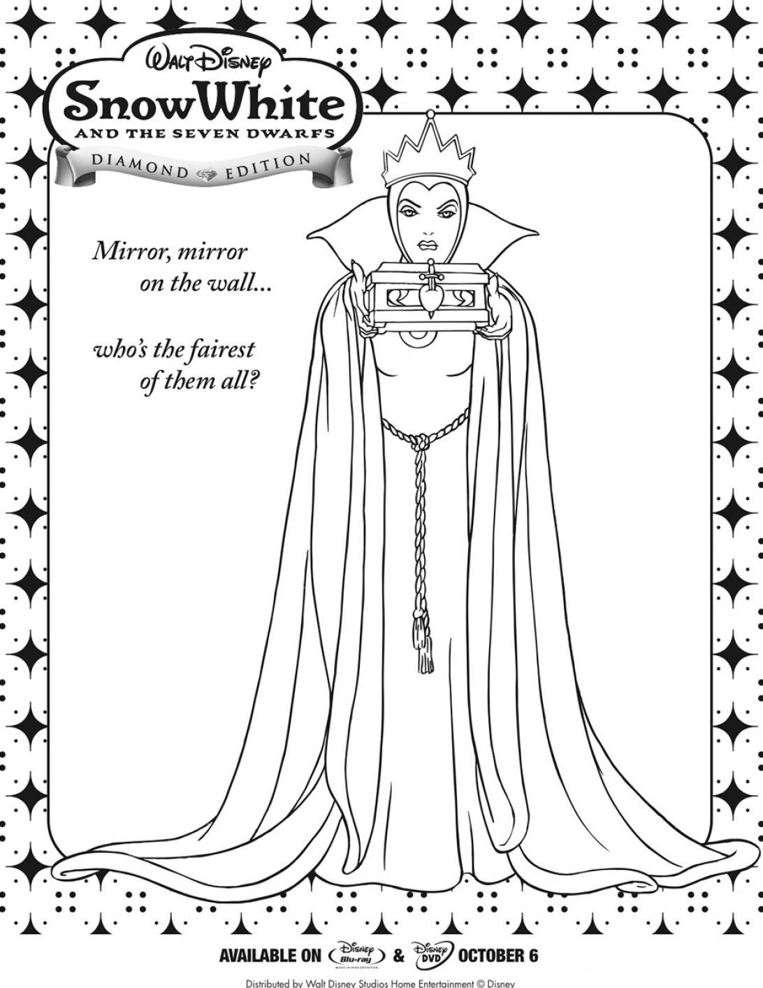 snow white witch coloring pages - photo#26