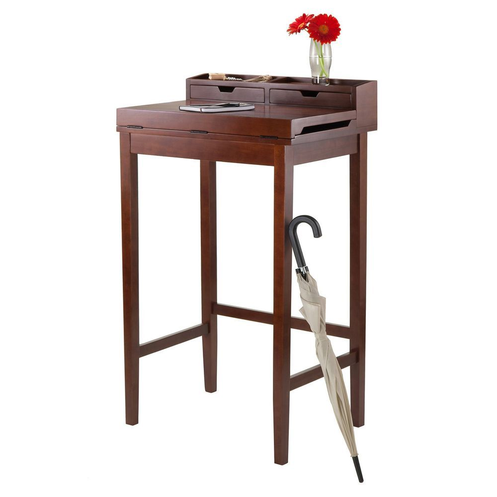 Stand Up Computer Desk Tall Office Podium Antique Writing Wood Stand MSRP  330$u2026