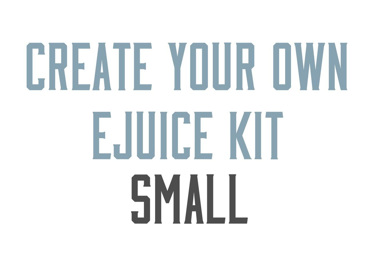 Create your own diy ejuice kit small everything you need
