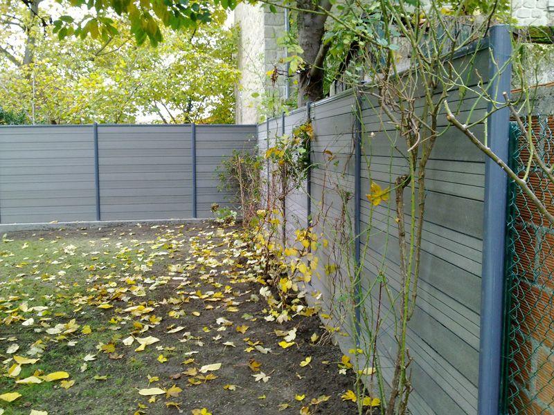 Pose du0027une clôture dans les Yvelines - fin de chantier Jardin