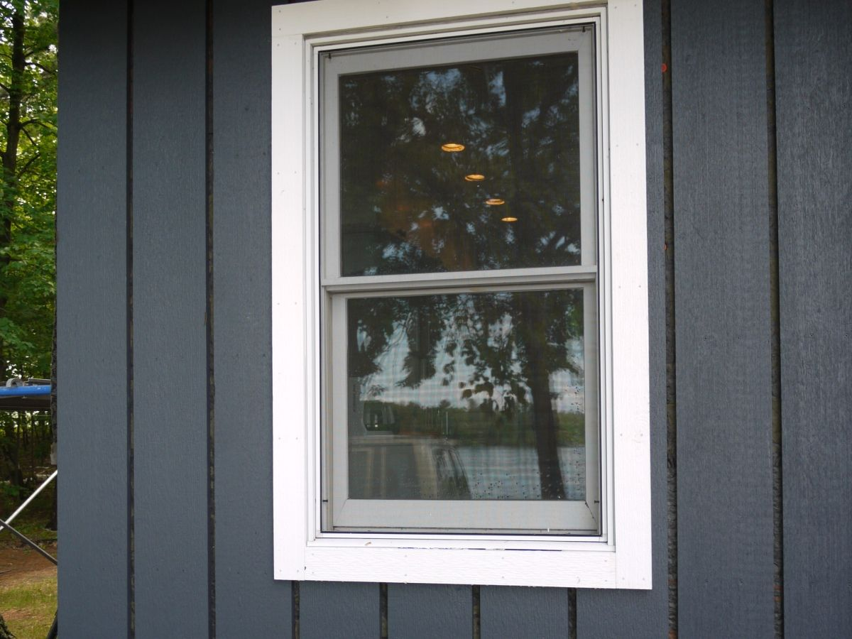 Painted Cedar Wood Trim For Board And Batten Siding