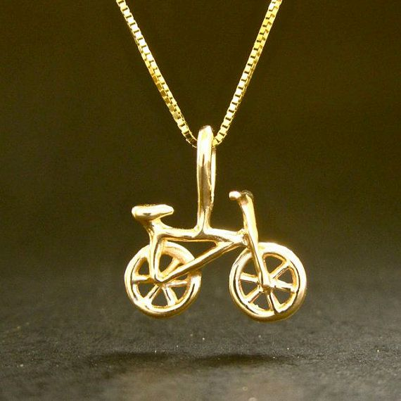 Solid gold bike necklace tiny 14k gold bicycle pendant recycled solid gold bike necklace tiny 14k gold bicycle pendant recycled made in usa aloadofball Image collections