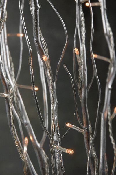 Jewelry Tree Natural Curly Willow Silver 39 In Led 5 Lighted Branches 9 99 Plug In Clear Wires Lighted Branches Rice Lights