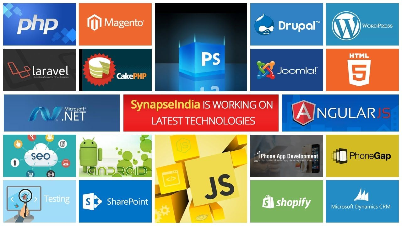Watch this video about latest web & mobile technologies used by SynapseIndia: https://www.youtube.com/watch?v=szSxQLGROt8