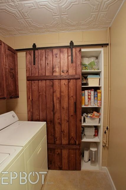 Diy Barn Door And Rolling Track For Pantry   Epbot