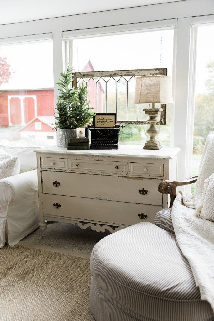 A New Old Dresser In The Sunroom | Living room decor ...