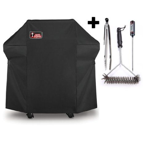 Kingkong Grill Cover K7106 Premium Cover For Weber Spirit 200 And 300 Series Gas Grill Including Grill Brush Tongs And Thermo Grill Cover Grill Brush Gas Grill