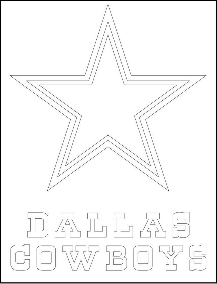 Dallas Cowboys From Nfl Coloring Logo Pictures Dallas Cowboys