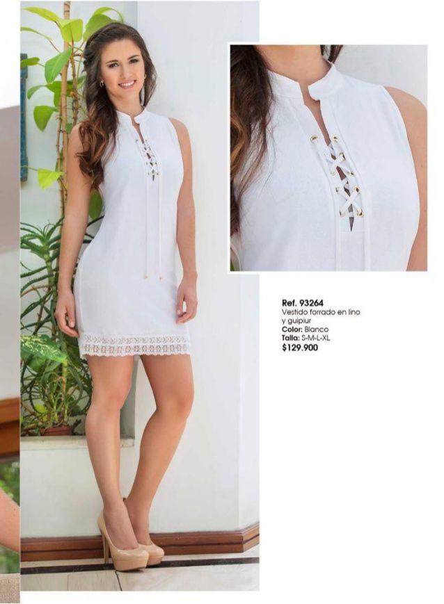 Vestidos casuales en color blanco