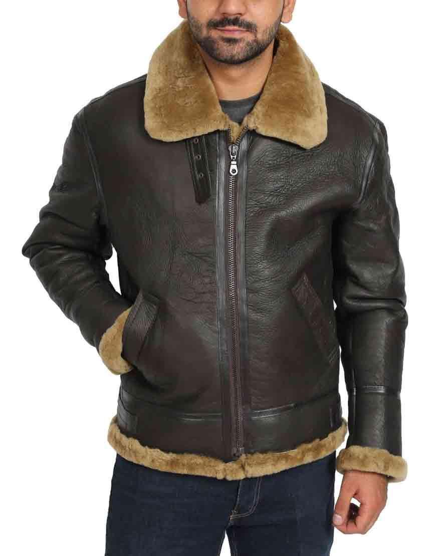 Tom Hardy Dunkirk Leather Jacket Tom Hardy Dunkirk Shearling Jacket Aviator Leather Jacket Flying Jacket Leather Bomber [ 1110 x 870 Pixel ]