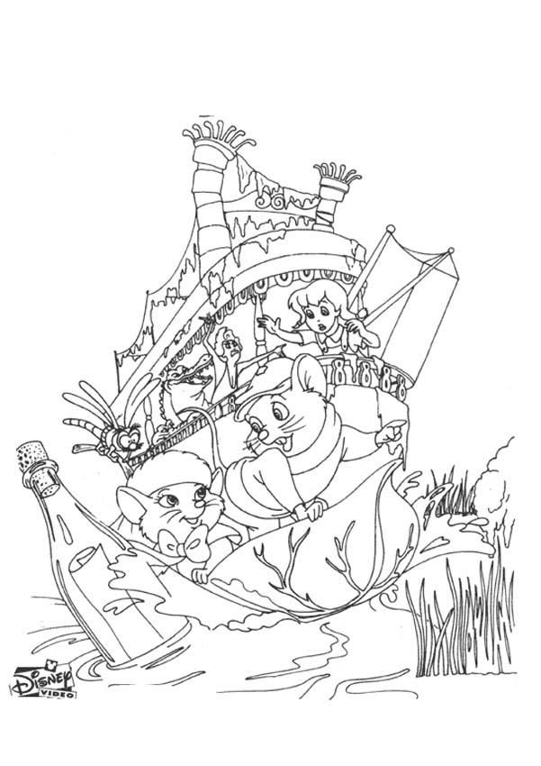 rescuers coloring pages