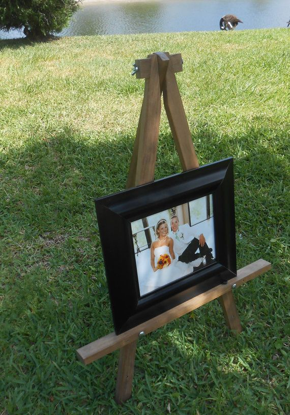 Art Easel  Handmade Wood Easel  Tabletop size by AtticJoys1
