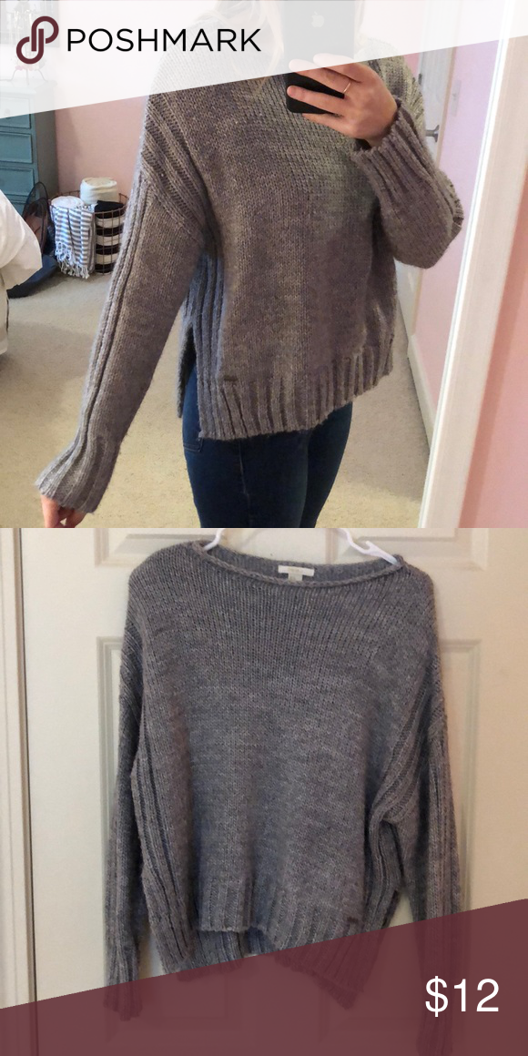 eb8cd63b3cd655 Forever21 Knit Sweater Grey, heavy knit crewneck sweater. Worn once! Size M Forever  21 Sweaters Crew & Scoop Necks