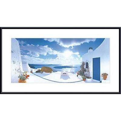Printfinders Mediterranean Afternoon by George Meis Framed Photographic Print Frame Color: Black, Mat Color: White