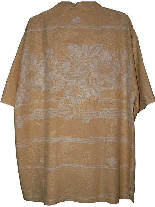 755211fcff Tommy Bahama Hibiscus Fade Away Silk Camp Shirt (Color  Orange Splash