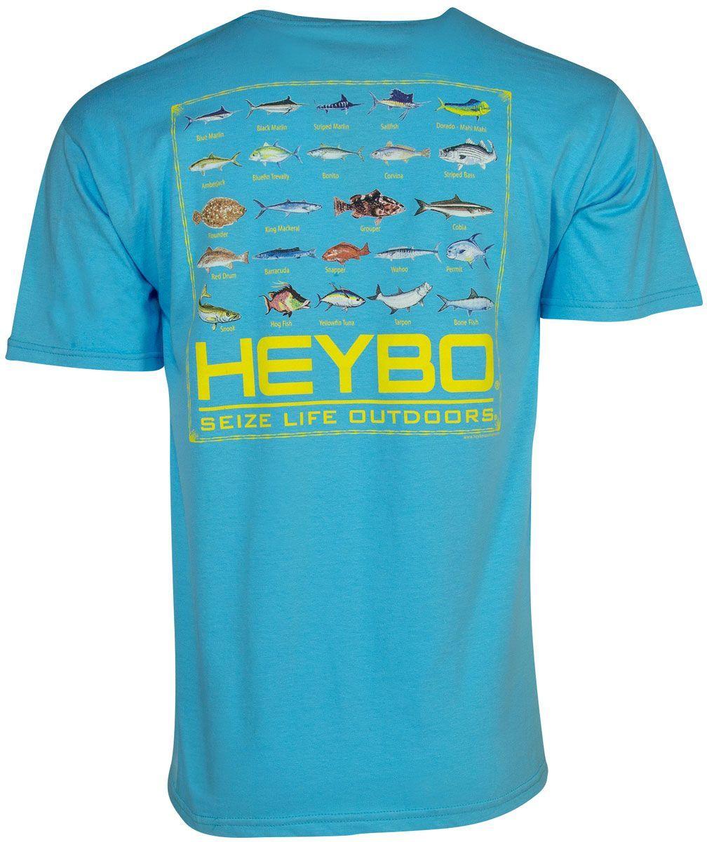 470ff9e3e Heybo Men's Fish Chart Short Sleeve T-Shirt, Size: Small, Blue ...