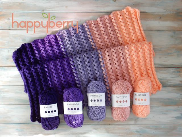 Happy Berry Crochet: Paintbox Yarn Review and Free Baby Blanket ...