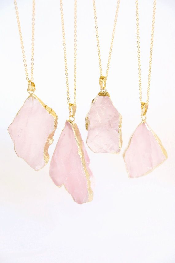 pendant quartz jewelry pink sparkle beautiful yaf boutique