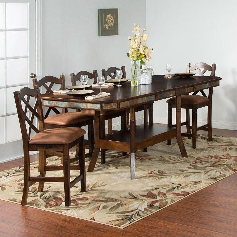 Santa Fe 5 Pc Counter Height Dining Table Set Mega Furniture