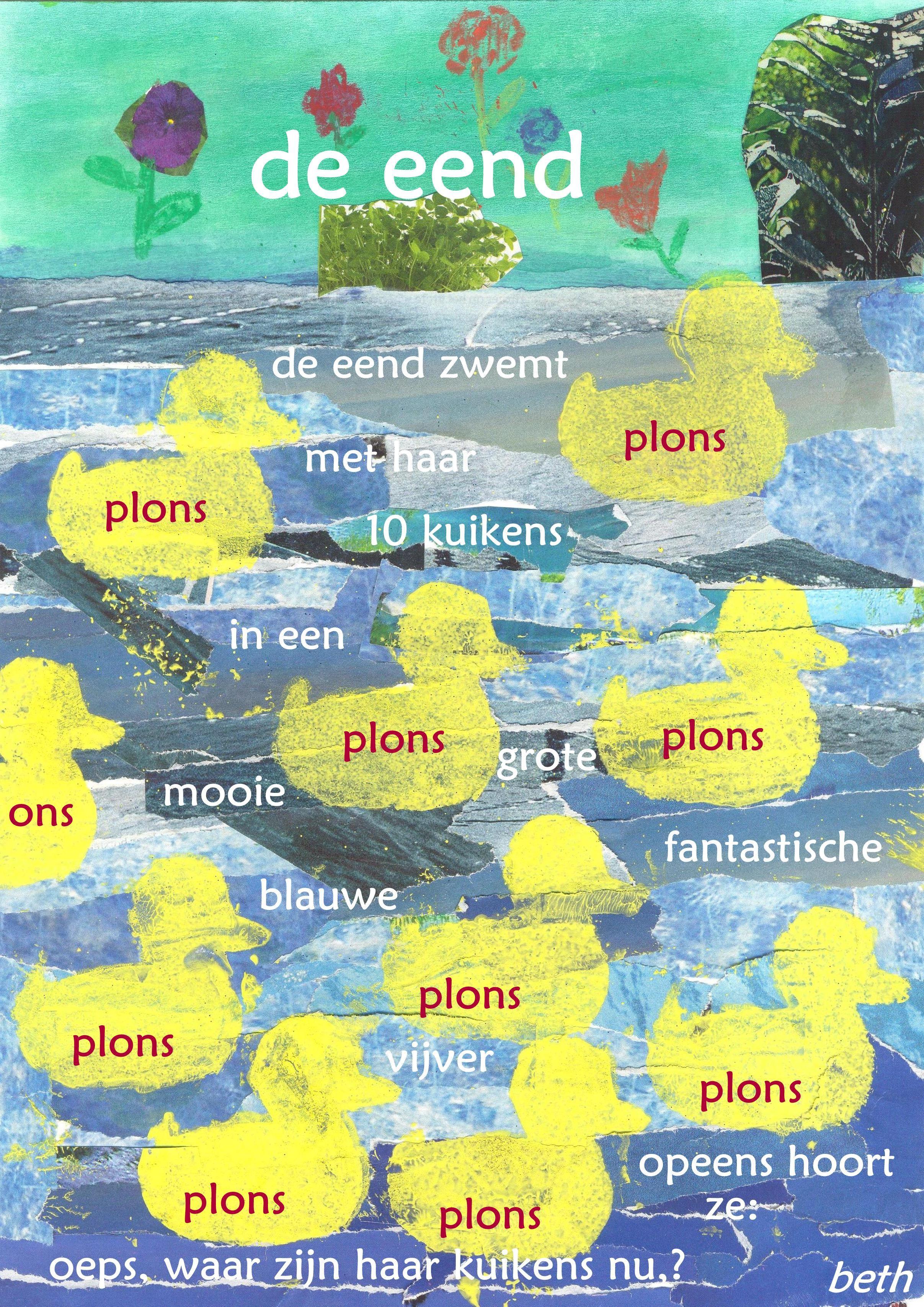 tekst via Picasa op gescande illustratie > illustratie met repen uit tijdschriften + sjabloontechniek