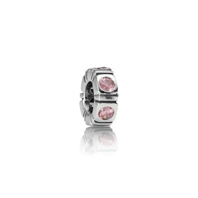 pandora charm pink stone