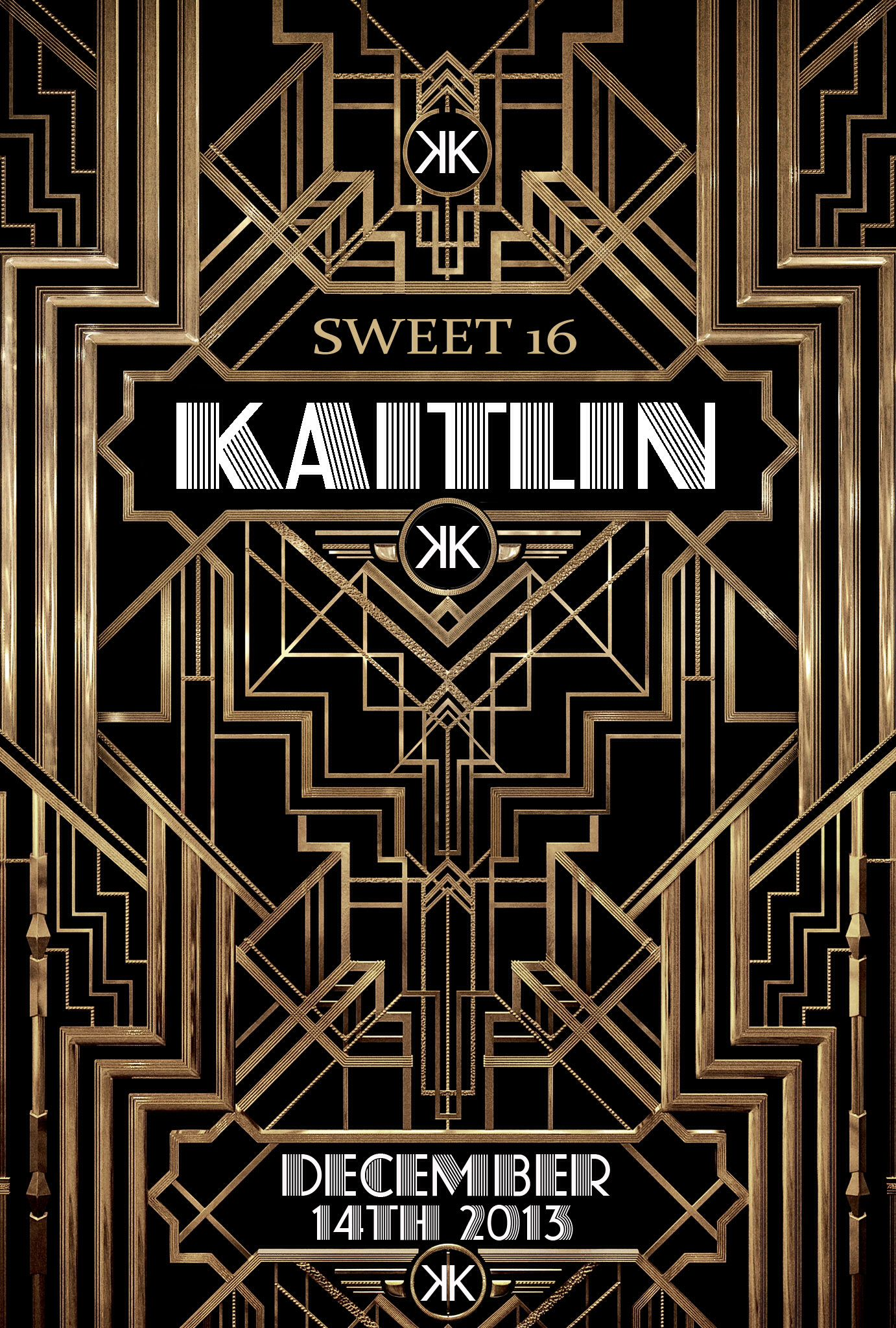 Kaitlin s Sweet 16 Great Gatsby Save The Date Invite