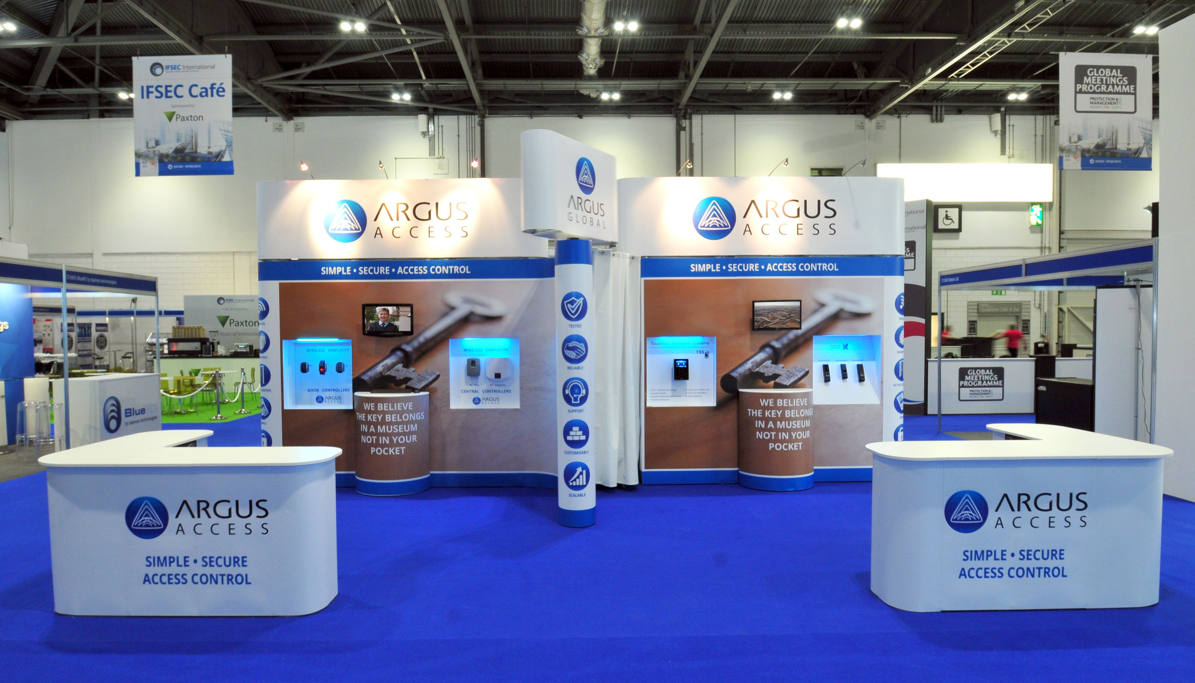 Modular Exhibition Stands Out : Modular exhibition stand for argus global by