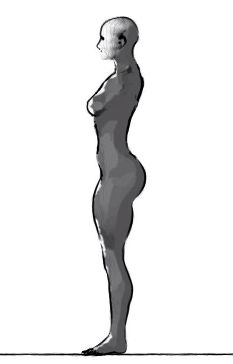 Female Body Sideways How To Draw And Stuff In 2019 Art Reference