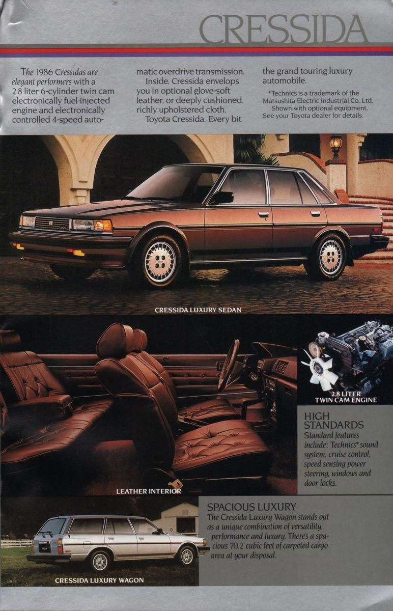 1986 Toyota Sales Brochure toyotaclassiccars Toyota for