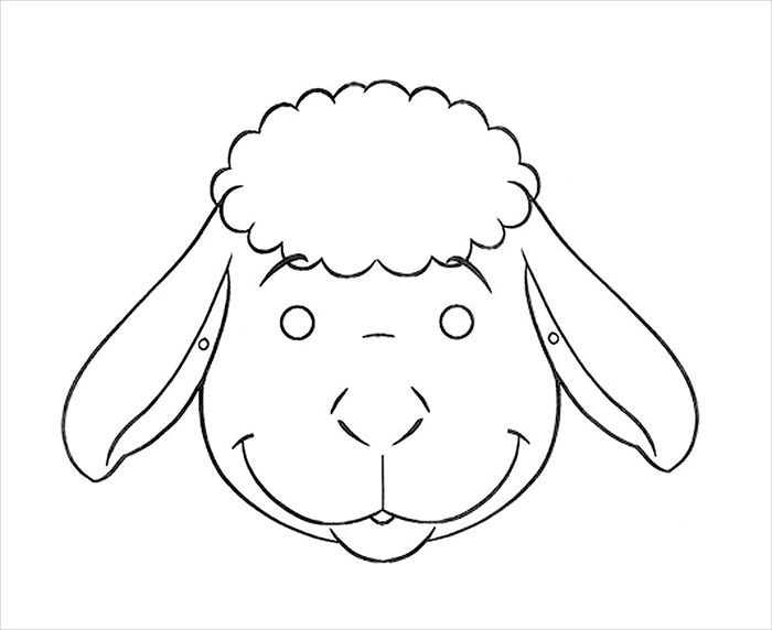 how to draw a lamb face