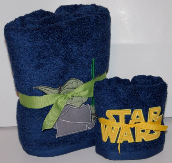 Star Wars Logo Hand Towel Blue