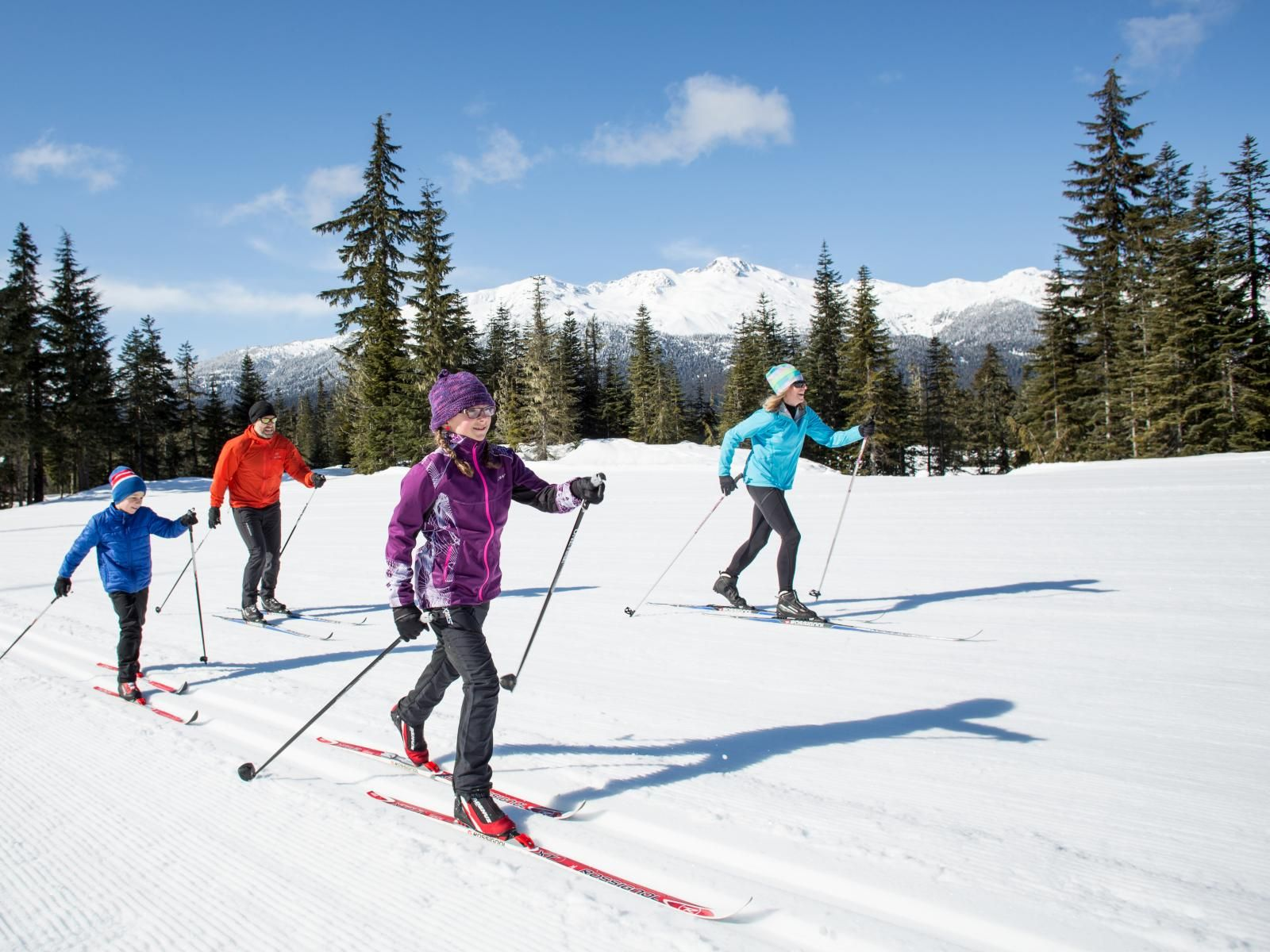 Family Cross Country Skiing At Whistler Olympic Park Cross Country Skiing Cross Country Skier Cross Country