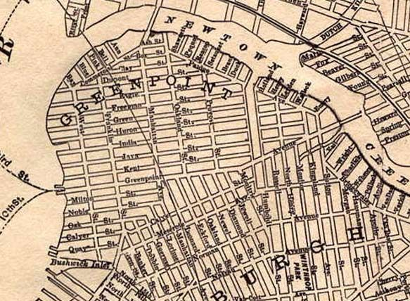 map of greenpoint brooklyn Greenpoint 1891 Jpg 583 428 Old Map Greenpoint Street Names map of greenpoint brooklyn