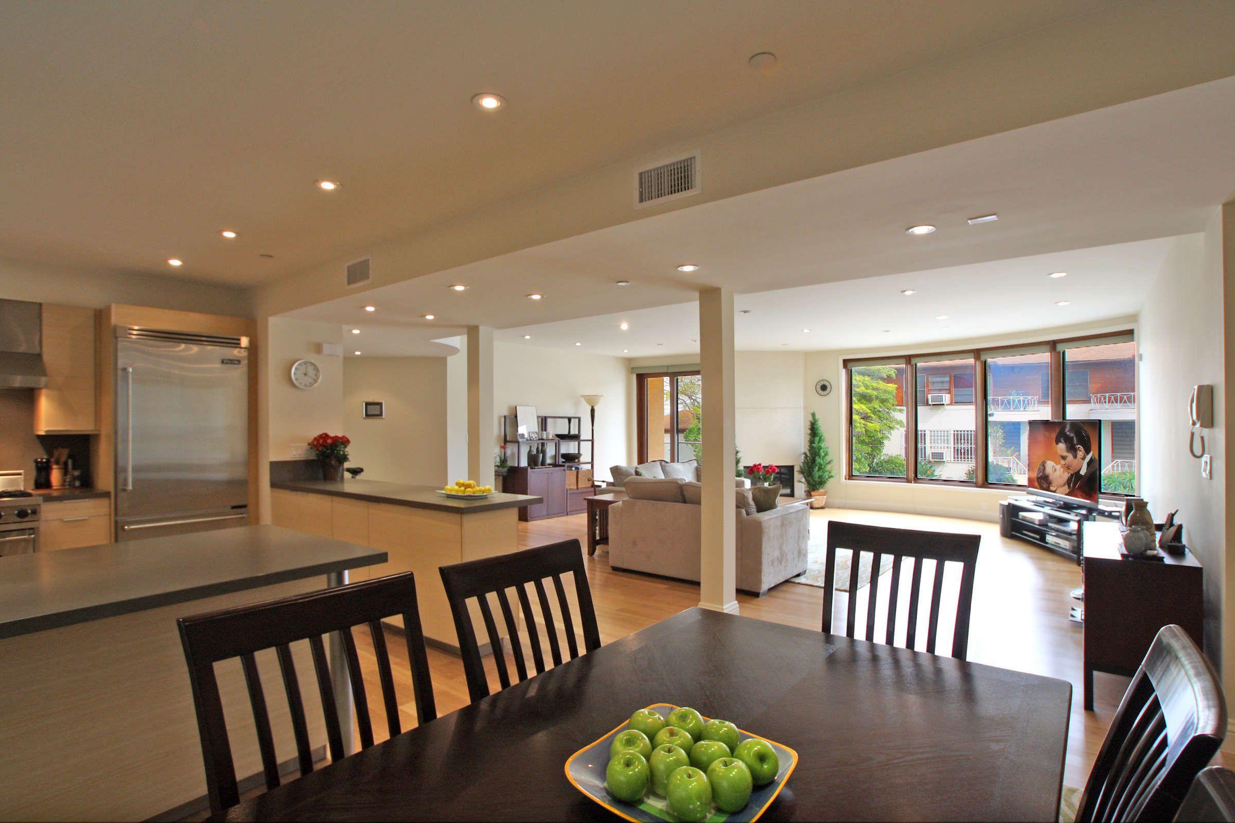 Pillars In Room Open Floor Plan Kitchen Dining Room Floor Open