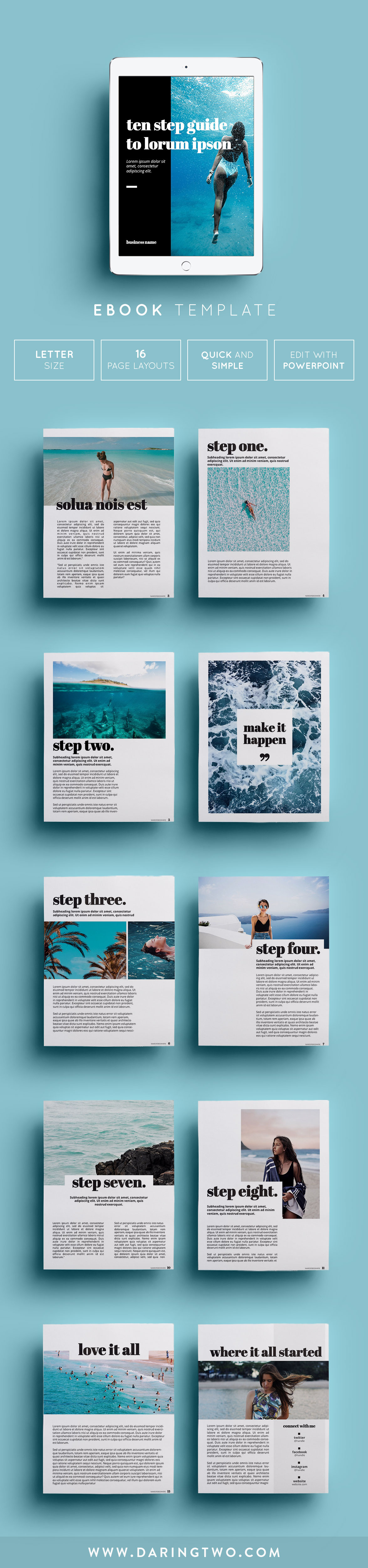 T2 Ebook Template // 16 Pages • Fully Editable + Customizable ...
