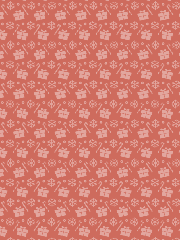 Christmas presents and candy free seamless vector pattern
