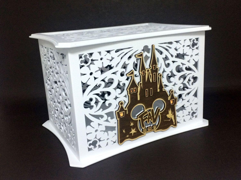 Disney Theme Wedding Card Box Memory Box Disney Castle Walt