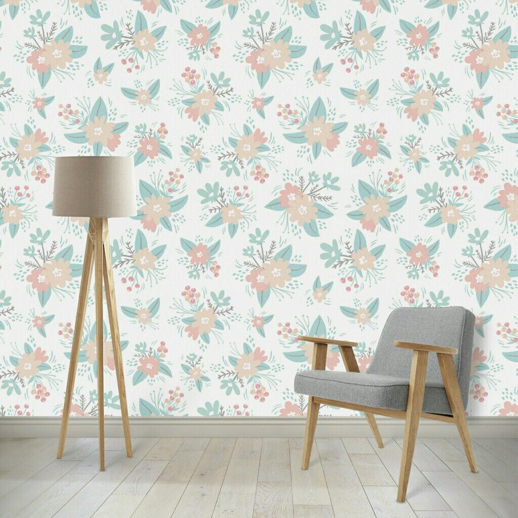 Sweet vintage inspired floral wallpaper, love this for a baby girl ...