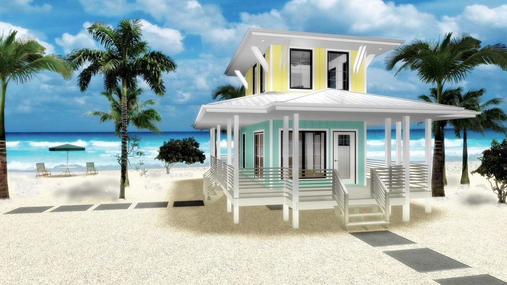Plan 62575dj Beach Lover S Dream Tiny House Plan Beach House Plans Beach House Decor Tiny Beach House