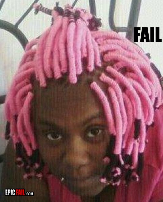 epic hairstyle fail pink