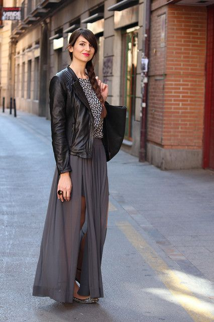 6d5697540 Trendtation.com : look-Ángeles | moda | Looks con faldas largas ...