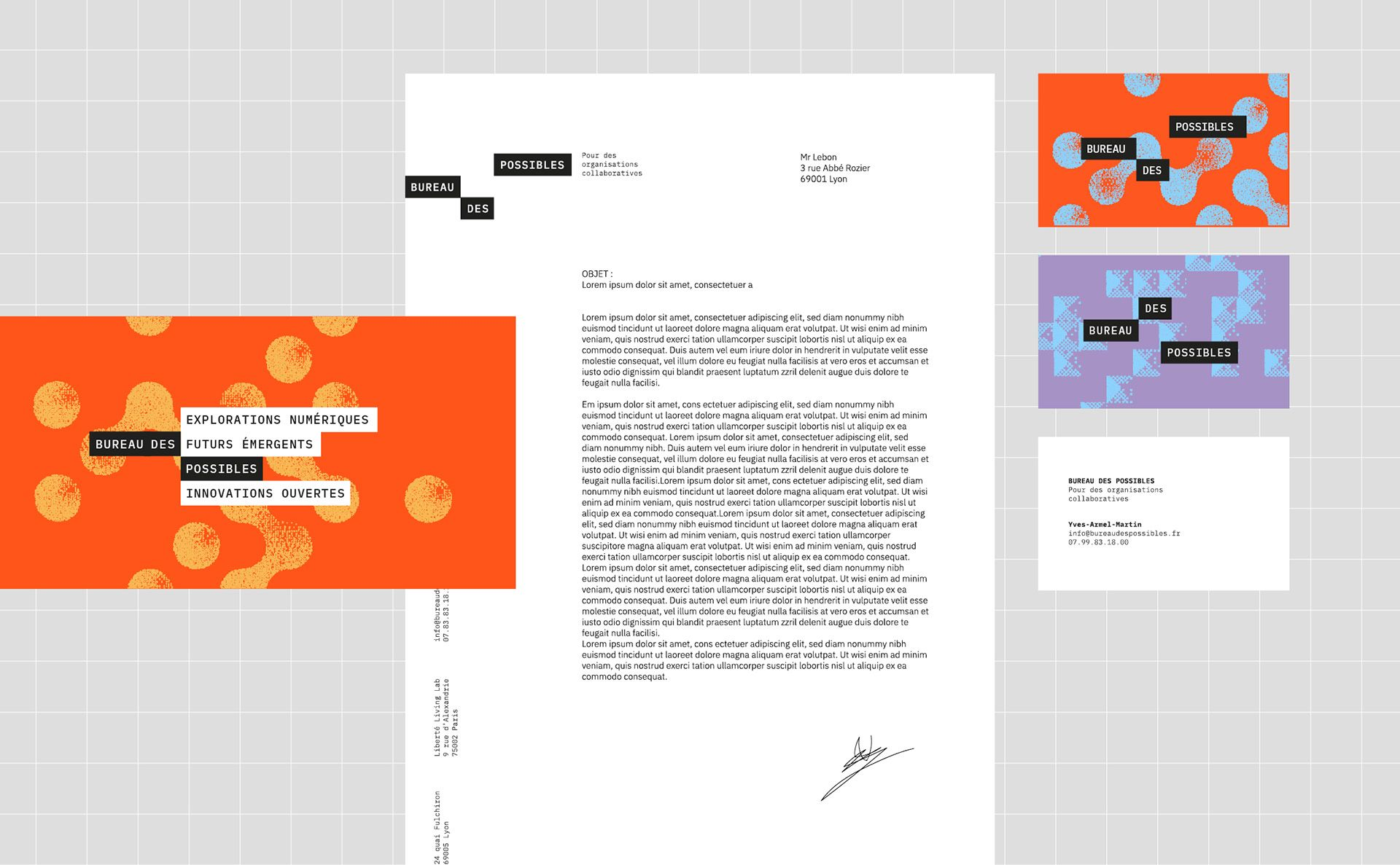 Bureau Des Possibles Generative Brand Design On Behance In 2020 Branding Design Generative Simple Graphic